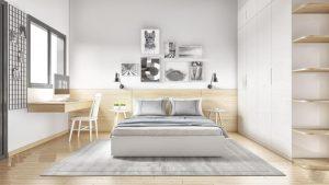Bộ phòng ngủ tông màu trắng - 12